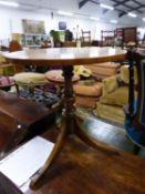A MAHOGANY TRIPOD TABLE. Dia. 51 x H 55cms.
