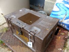 AN AMMO BOX, CIRCA 1944.