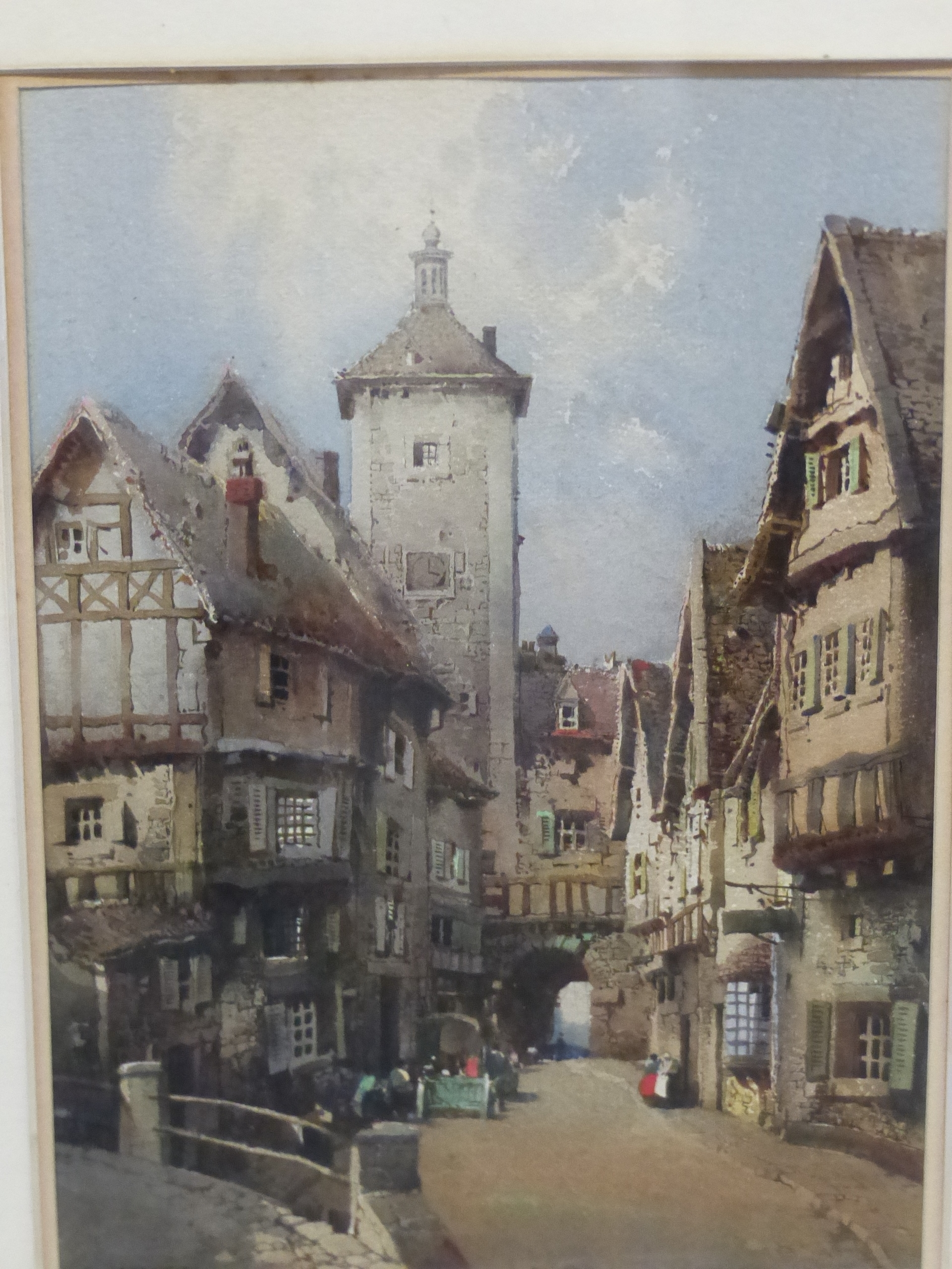 NOEL H LEAVER (1889-1951) A PAIR OF TOWN SCENES, SIGNED WATERCOLOURS. 26 x 18 cm (2) - Image 8 of 9