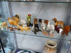 A CARLTON WARE BULMERS CIDER GREEN WOODPECKER. TOGETHER WITH OTHER ANIMAL FIGURES TO INCLUDE,
