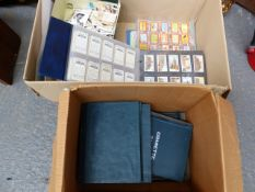 APPROXIMATELY 700 LOOSE CIGARETTE AND TRADE CARDS, VARIOUS COIN SETS, MATCHBOX LABELS, CARD ALBUMS