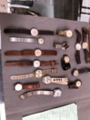A COLLECTION OF VINTAGE WRIST WATCHES TO INCLUDE HELVITA, ACCURIST, RODEX, LAMAR, SMITHS ETC.