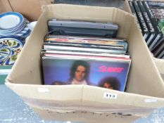 APPROX 25 LP RECORDS MOSTLY 1970'S POP AND A SONY RECORD DECK MODEL PS-J20.