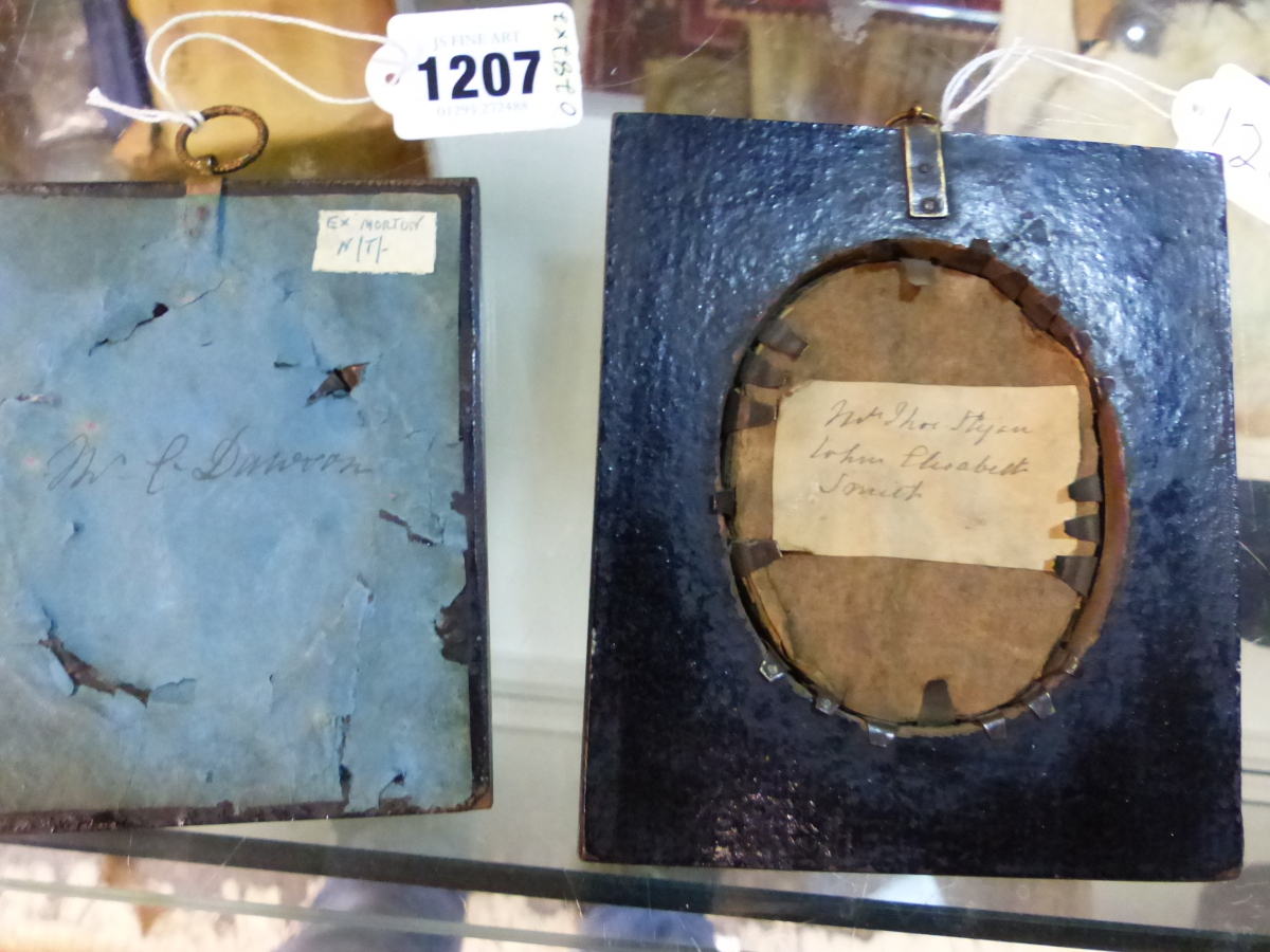 TWO OVAL SILHOUETTES ON GLASS, ONE LABELLED VERSO MRS THOS HYAM, THE OTHER MR C. DAWSON - Image 5 of 5