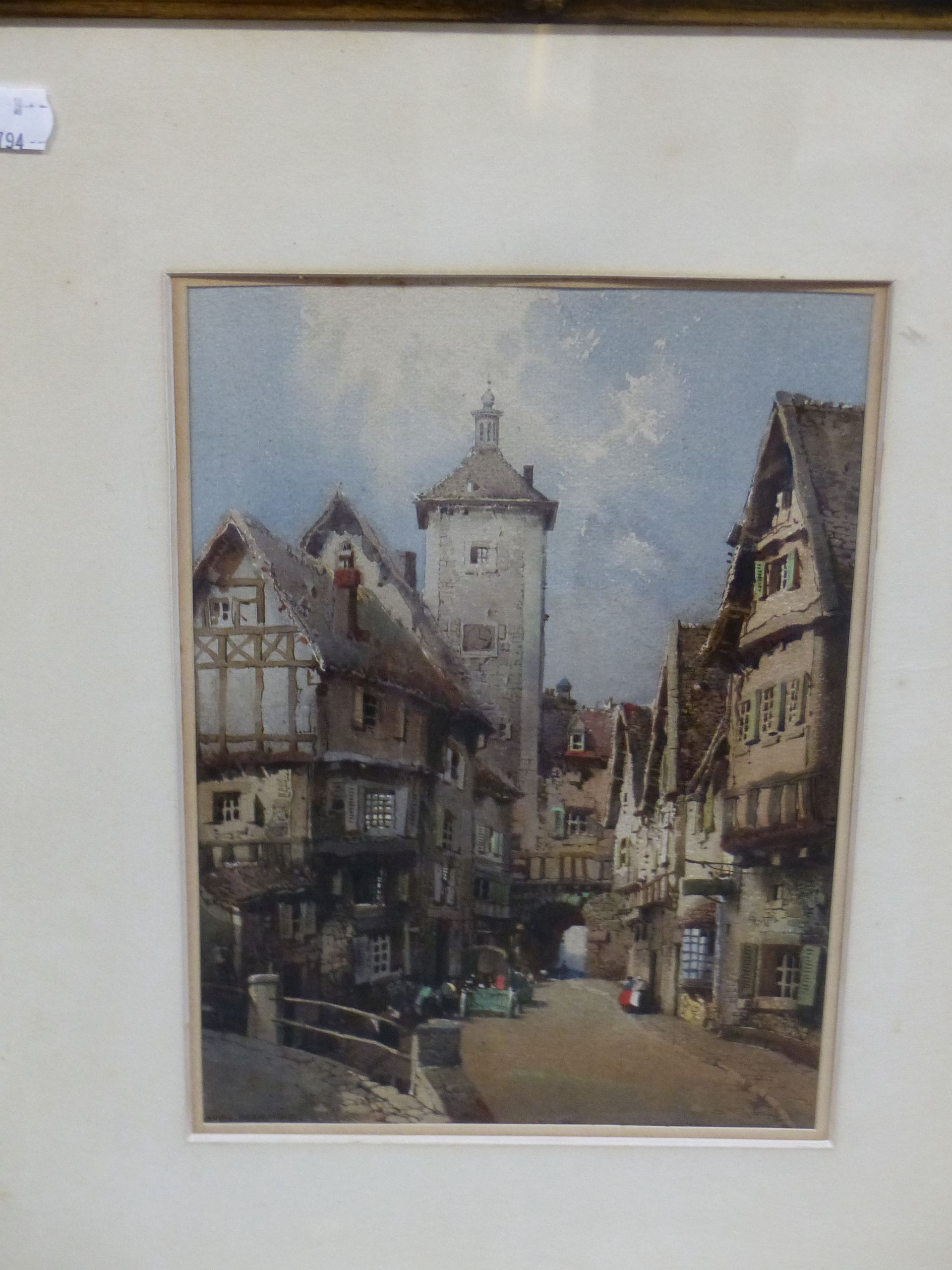 NOEL H LEAVER (1889-1951) A PAIR OF TOWN SCENES, SIGNED WATERCOLOURS. 26 x 18 cm (2) - Image 4 of 9