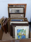 A GROUP OF ANTIQUE AND LATER TOPOGRAPHICAL PRINTS ETC, SIZES VARY
