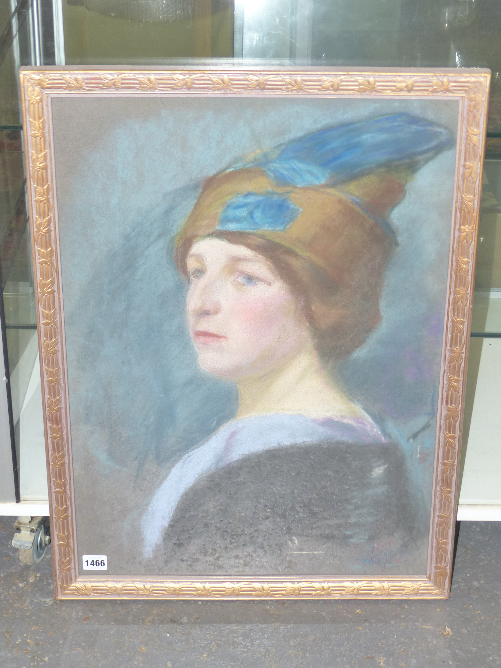 19th/20th C. CONTINENTAL SCHOOL, PORTRAIT OF A FASHIONABLE LADY, SIGNED INDISTINCTLY AND DATED - Image 2 of 3