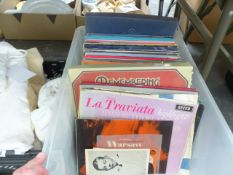 A QUANTITY OF LPS ABD BOX SETS OF RECORDS TO INCLUDE MOSTLY CLASSICAL, LIVING SHAKESPEARE ETC.