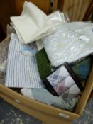A QUANTITY OF UNUSED JAMES MEADE SHIRTS AND OTHER CLOTHING.