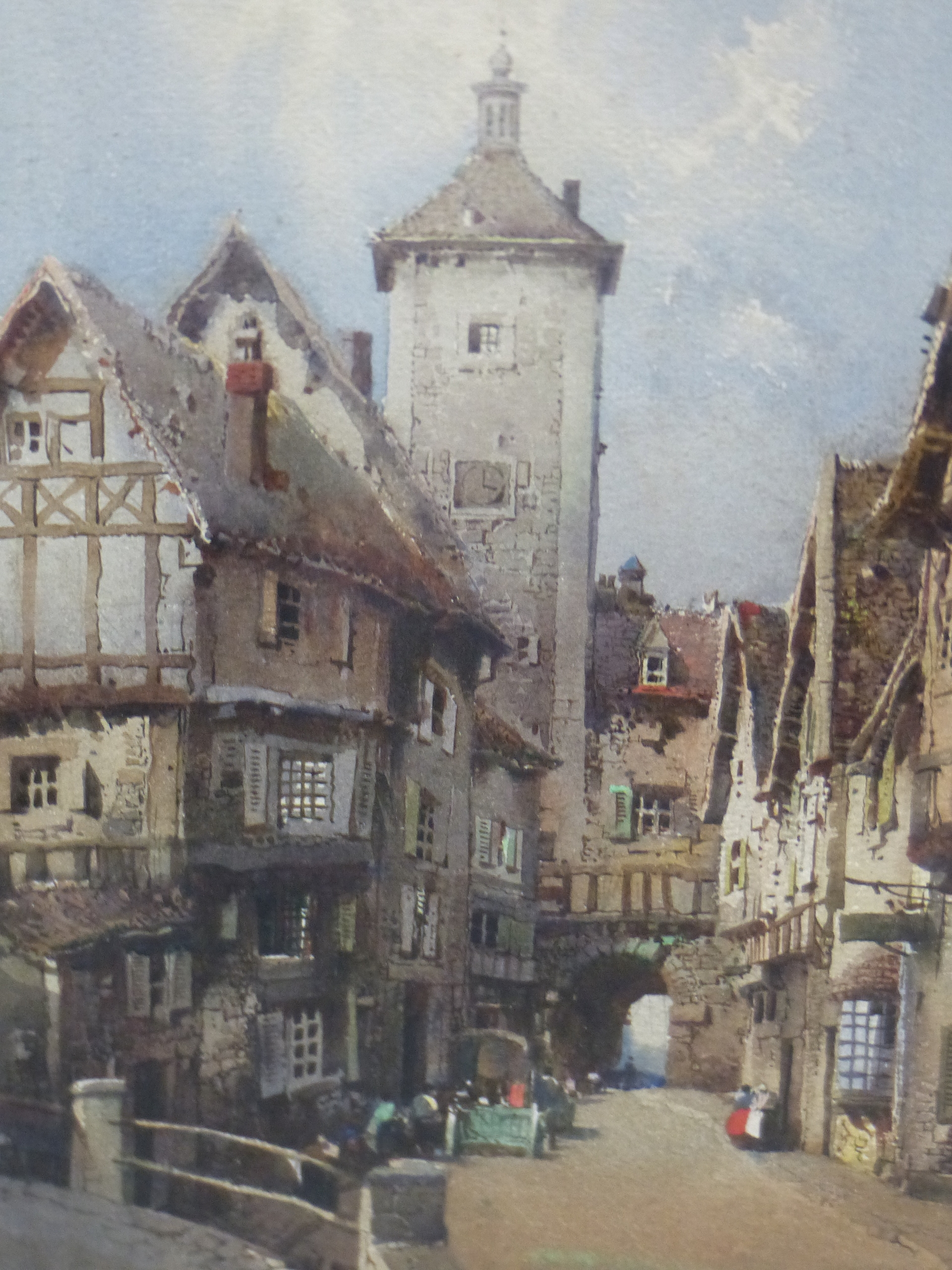 NOEL H LEAVER (1889-1951) A PAIR OF TOWN SCENES, SIGNED WATERCOLOURS. 26 x 18 cm (2) - Image 5 of 9