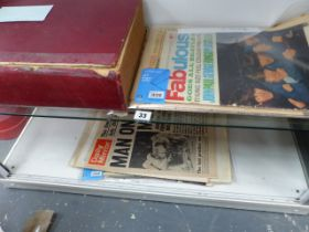 A BOUND PUBLISHERS BOOK OF THE COVENTRY EXPRESS 1963-64, TOGETHER WITH OTHER POIGNANT NEWSPAPERS