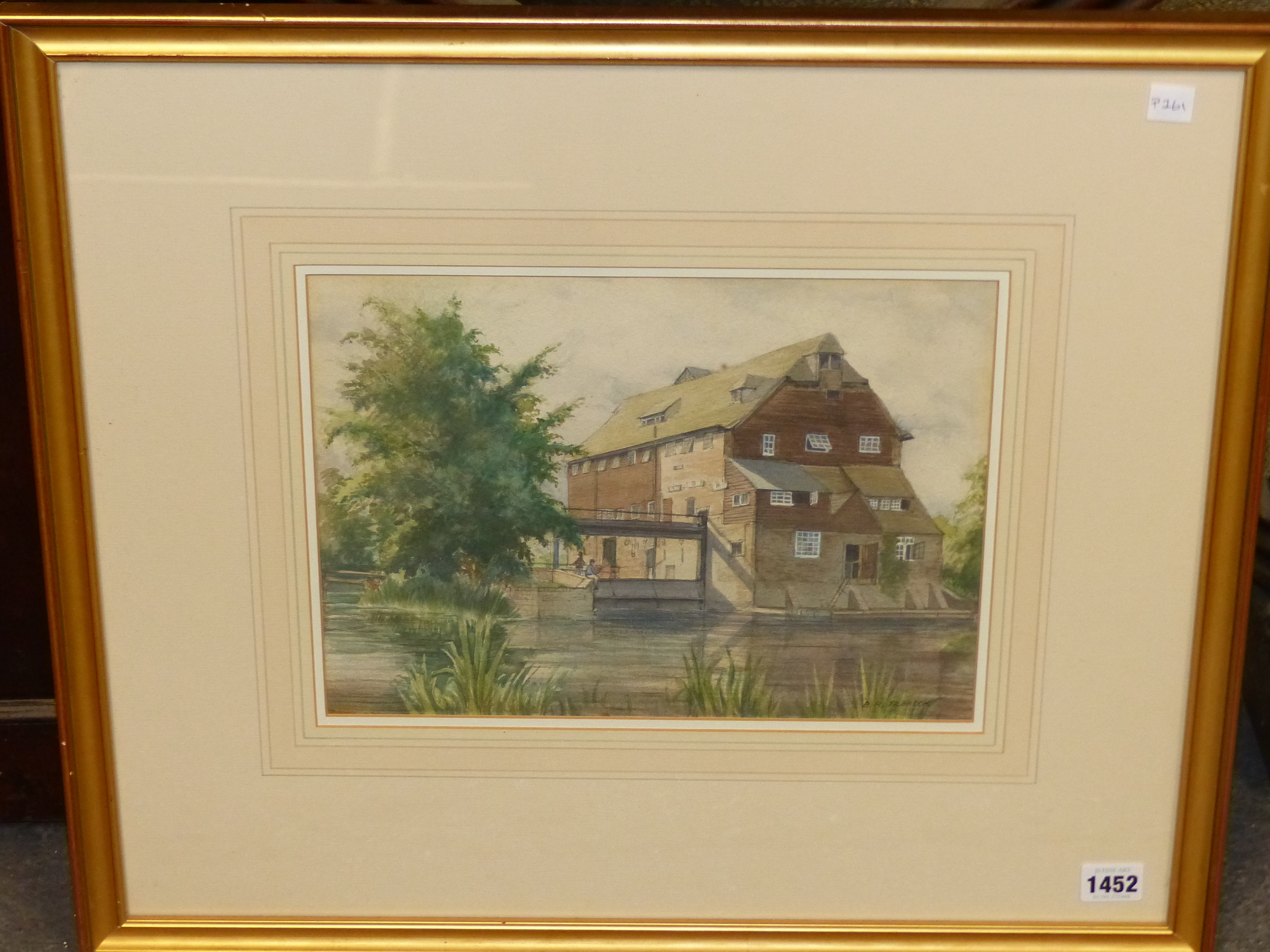 B.R TILBROOK (20th CENTURY SCHOOL). THE OLD MILL. SIGNED, WATERCOLOUR 23 x 32cms. - Image 4 of 5