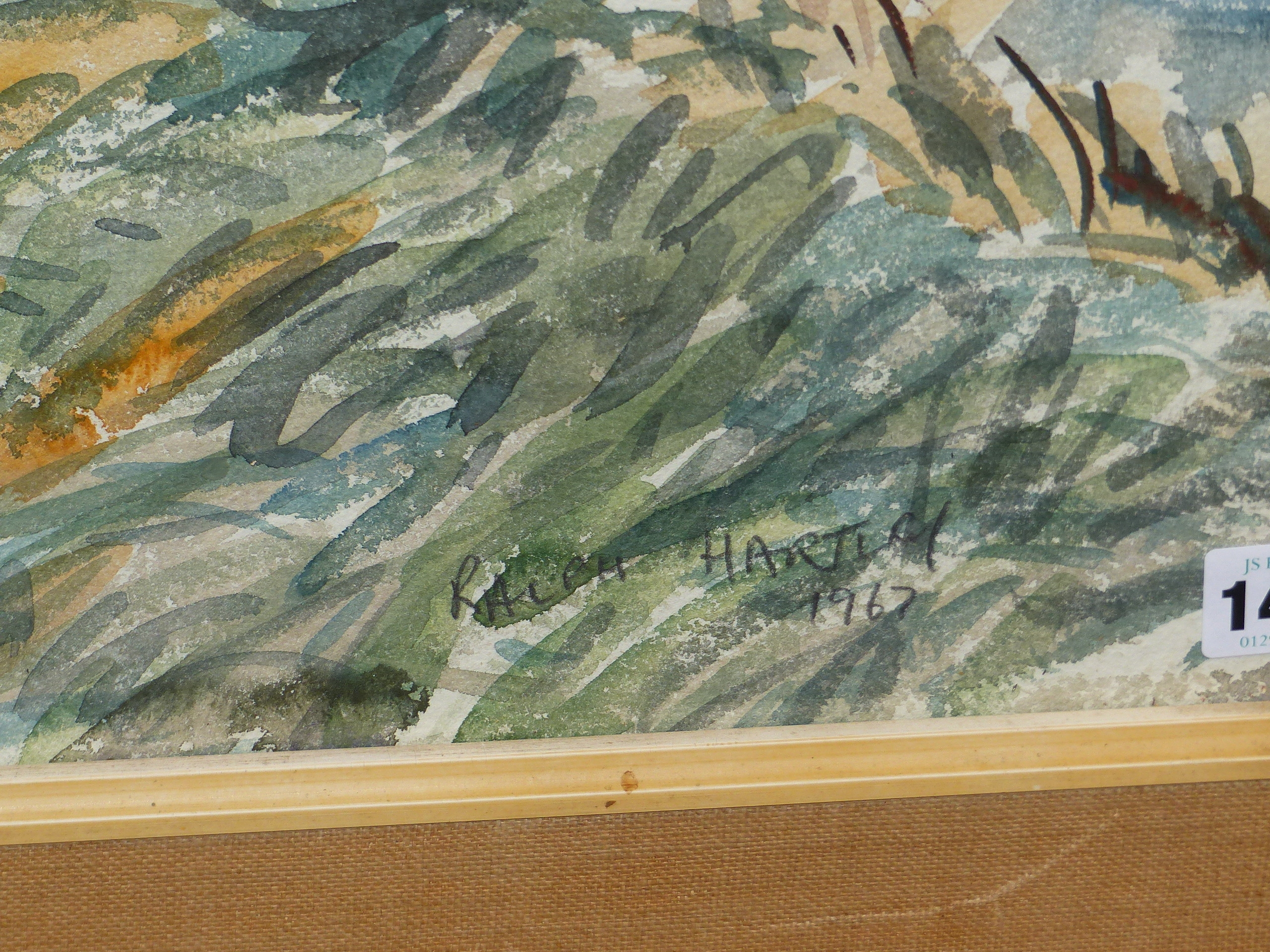 •RALPH HARTLEY (1926-1988) ARR. RURAL FARM BUILDINGS SIGNED WATERCOLOUR 55 x 77cm. TOGETHER WITH TWO - Image 3 of 11