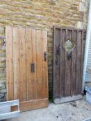 TWO ANTIQUE DOORS.