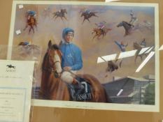 A PENCIL SIGNED LIMITED EDITION COLOUR PRINT, THE ASCOT FESTIVAL, SEPT 28 1996
