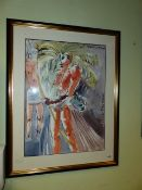 CONTEMPORARY SCHOOL. A PAIR OF COSTUME STUDIES OF FIGURES IN THE VENETIAN CARNIVAL, SIGNED