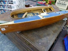 TWO MODEL BOATS.
