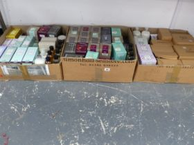 A QUANTITY OF REED DIFFUSERS, CANDLES ETC.