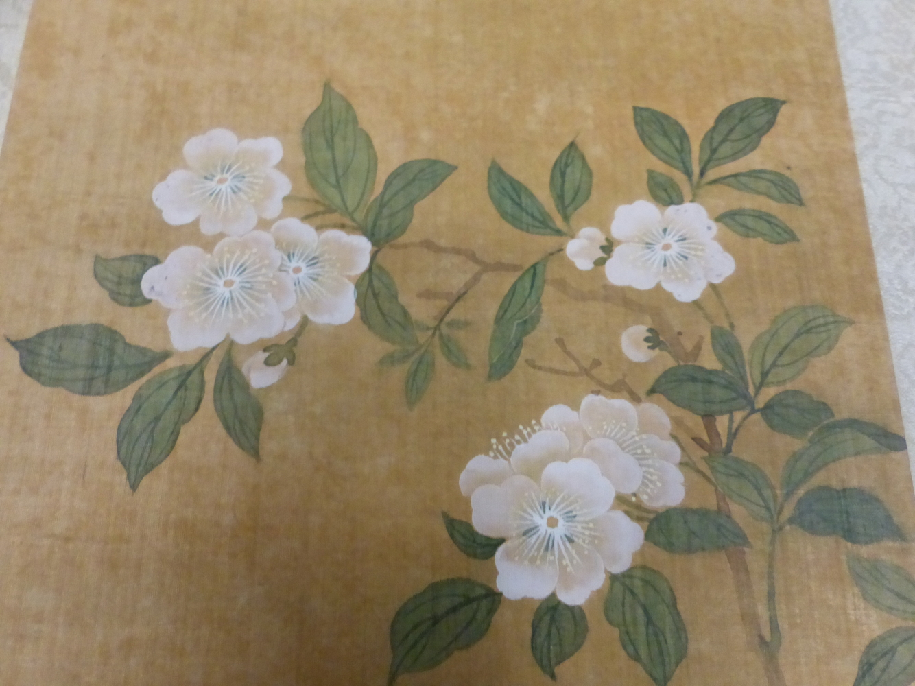A CHINESE CONCERTINA BOOK OF EIGHT WATERCOLOURS ON SILK PAINTED WITH FLOWERS, BIRDS AND BUTTERFLIES, - Image 17 of 22