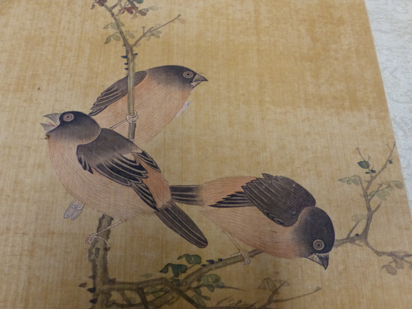A CHINESE CONCERTINA BOOK OF EIGHT WATERCOLOURS ON SILK PAINTED WITH FLOWERS, BIRDS AND BUTTERFLIES, - Image 15 of 22