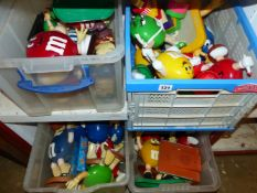 A QUANTITY OF M&M COLLECTABLE TOYS