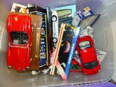 A QUANTITY OF DIE CAST TOY CARS, ETC