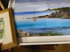 A JOHN HAYWOOD OIL PAINTINGS AND TWO PRINTS