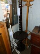 TWO STANDARD LAMPS AND A COAT STAND