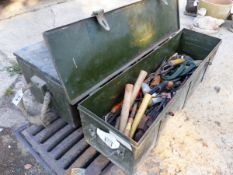 TWO TOOL BOXES AND CONTENTS