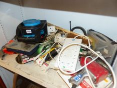 VARIOUS EXTENSION LEADS, ETC