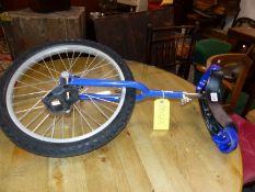 A BLUE MONOCYCLE