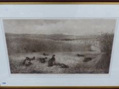 ARCHIBALD THORBURN (1860-1935) A PENCIL SIGNED PRINT OF GAME BIRDS, 43 x 71cm, TOGETHER WITH THREE