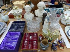 A CRYSTAL PALACE ART UNION BUST OF PRINCESS ALEXANDRA, ANOTHER OF SHAKESPEARE TOGETHER WITH