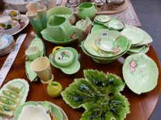 A COLLECTION OF CARLTON WARE LEAF AND FLOWER WARES