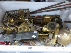 A COLLECTION OF BRASS AND VARIOUS METAL WARES