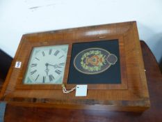 A VICTORIAN STYLE WALL CLOCK.
