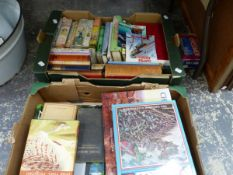 A QUANTITY OF BOOKS, ART, WAR, NATURE AND OTHER SUBJECTS