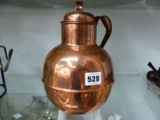 AN ARMY AND NAVY COPPER FLAGON AND COVER