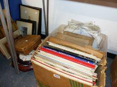 CLASSICAL LP RECORDS, WALL CLOCKS, PRINTS, ETC