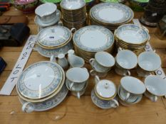 A NORITAKE POLONAISE PATTERN TEA AND DINNER SERVICE