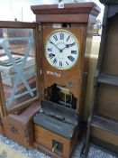 A VINTAGE NATIONAL CLOCKING IN CLOCK.