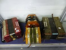 HOHNER AND ERICA ACCORDIONS TOGETHER WITH TWO CONCERTINAS