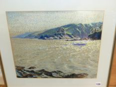 ROY STRINGFELLOW (1921 - 2008) ARR. THE CORNISH COAST, SIGNED PASTEL 39 x48 cm TOGETHER WITH TWO
