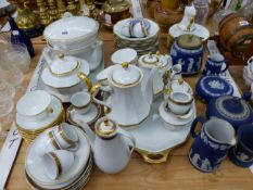 SCHLAGGENWALD AND PORSGRUNN TEA, COFFEE AND DINNER PORCELAINS TOGETHER WITH SEVEN PIECES OF BLUE
