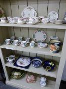 A ROYAL ALBERT TEA SET, AN IMPERIAL TEA SET, CARLTON WARE BOWL ETC