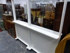A PAIR OF SAFETY SCREENS W 100 X D 30 X H 180 CM