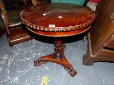 A BRIGHTS OF NETTLEBED VICTORIAN STYLE MAHOGANY OCCASIONAL TABLE