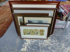 A GROUP OF ANTIQUE AND LATER HUNT PRINTS AND OTHER SPORTING SUBJECTS, SIZES VARY
