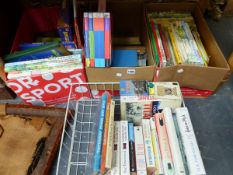 A COLLECTION OF BOOKS TO INCLUDE RUPERT ANNUALS, HARRY POTTER BOX SET, VINTAGE ANNUALS, ADRIAN MOLE,