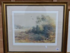 AFTER JOHNATHAN SAINSBURY, THREE PENCIL SIGNED LIMITED EDITION COLOUR PRINTS OF GUN DOGS AND GAME